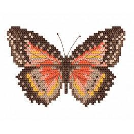 Der braune Schmetterling - Aida mit Aufdruck