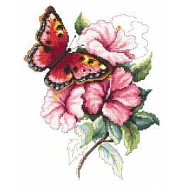 Der bunte Schmetterling - Aida mit Aufdruck