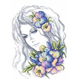 Wintermädchen - Aida mit Aufdruck