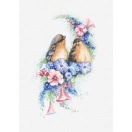 Romantische Vögel - Aida mit Aufdruck