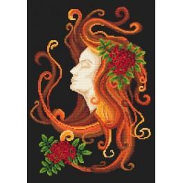 Herbstfrau - Aida mit Aufdruck