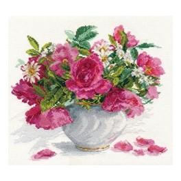 ALI 2-25 Stickpackung - Rosen und Gänseblümchen