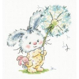 MN 19-06 Stickpackung - Hase mit Pusteblume