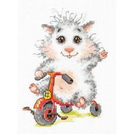 Zestaw z muliną - Chomik na rowerku