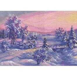 Stickpackung - Sonnenaufgang im Winter