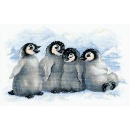 Stickpackung - Lustige Pinguine