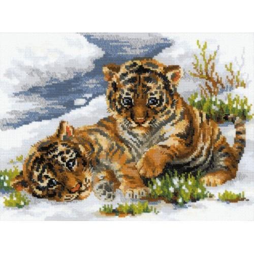 Stickpackung Kleine Tiger