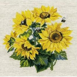 Set mit Wollgarn - Sonnenblumen