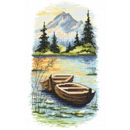 Stickpackung - Dämmerung am See