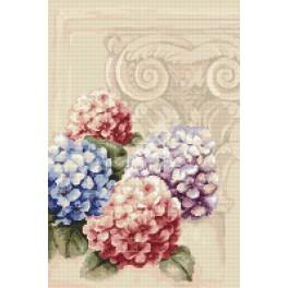 Stickpackung - Hortensien