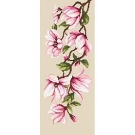 Zestaw z muliną - Delikatne magnolie