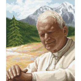 Zestaw z muliną - Papież z górskim pejzażem
