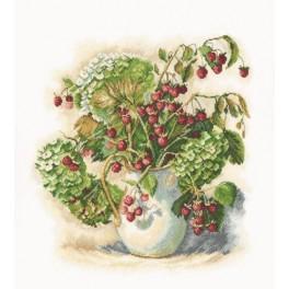 Stickpackung - Hortensien und Himbeeren