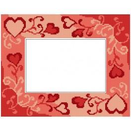 Stickpackung - Rahmen mit Herzen zum Valentinstag