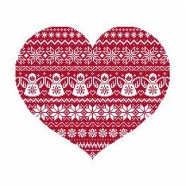 Stickpackung - Skandinavisches Herz