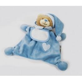 Przytulak - miś w piżamce niebieski