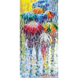 Stickpackungen mit Perlen - Lustige Regenschirme
