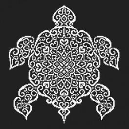 Stickpackungen mit Perlen - Spitzen Schildkröte