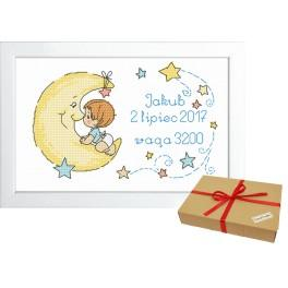 Geschenkset - Geburtsschein für Jungen