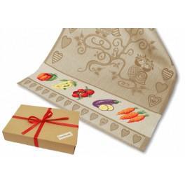 Zestaw prezentowy - Ściereczka do naczyń - Na straganie - Warzywa