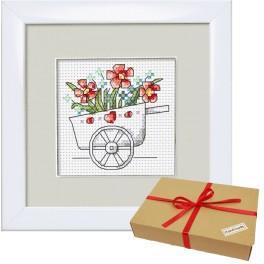 Zestaw prezentowy - Kwiaty z ogródka – Taczki