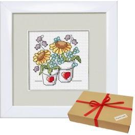 Zestaw prezentowy - Kwiaty z ogródka – Doniczki