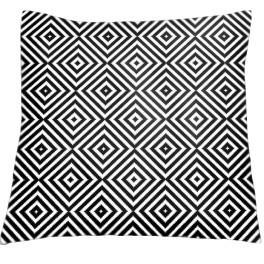 Stickpackung mit Kissenbezug - Kissen - Kontrastreiche Rhomben