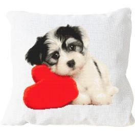 Stickpackung mit Kissenbezug - Kissen - Liebes Hündchen