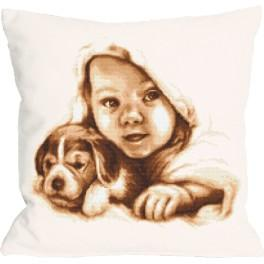 Stickpackung mit Kissenbezug - Kissen - Fröhliche Kindheit