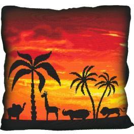Stickpackung mit Kissenbezug - Kissen - Abschied von Afrika