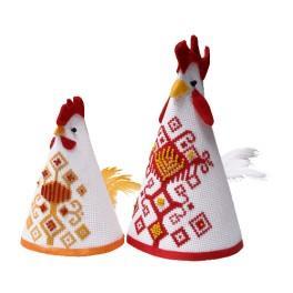 Stickpackung - Hahn und Hühnchen