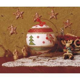 Stickpackung - Weihnachtskugel mit Engeln