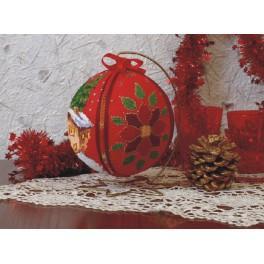 Stickpackung - Weihnachtskugel - Winterabend