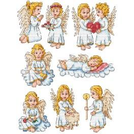 Stickpackung - Weihnachtsschmuck - Kleine Engel