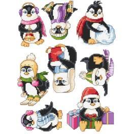 Stickpackung - Fröhliche Pinguine