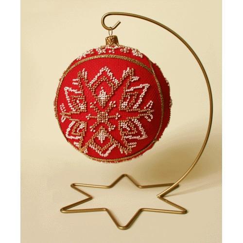 Set mit Perlen - Weihnachtskugel – Weihnachtssterne