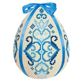 Stickpackung - Osterei - Blaue Arabeske