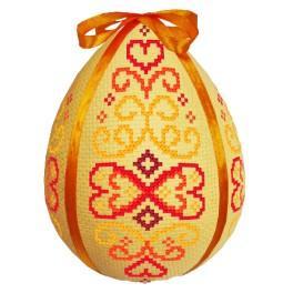 Stickpackung mit Stickgarn und Ei