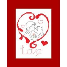 Stickpackung - Valentinstagskarten