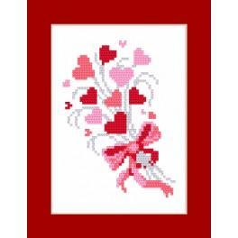 Stickpackung mit Perlen und Karte