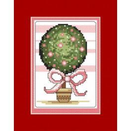 Stickpackung - Karte - Glücksbaum