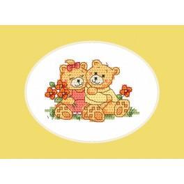 Stickpackung - Karte - Niedlichen Teddybären