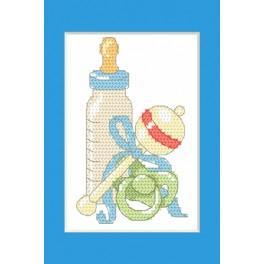 ZU 8615-02 Stickpackung - Geburtskarte - Geburt eines Sohnes