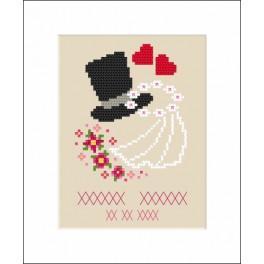 ZU 8557 Stickpackung - Hochzeitskarte