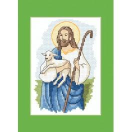 Stickpackung - Osternkarte - Christus