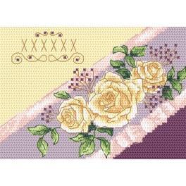 Stickpackung - Karte - Einladung - Rosen