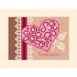 Stickpackung - Karte - Einladung - Herz
