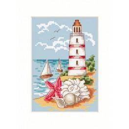 Stickpackung - Karte - Der Leuchtturm