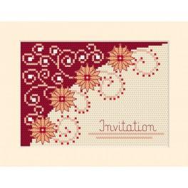 Stickpackung - Karte - Einladung - Blumen