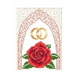 ZUI 4905-01 Zestaw z muliną, koralikami i kartką – Kartka ślubna